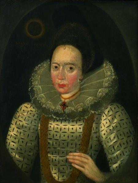 British School, 16th Century Style    Portrait of an Elizabethan Lady