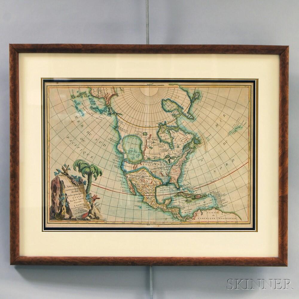 Map of North America. Janvier, Jean  L'Amerique Septentroniale.