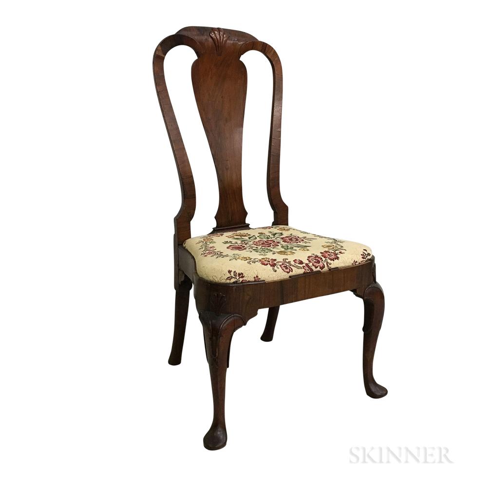 George II Mahogany Veneer Side Chair
