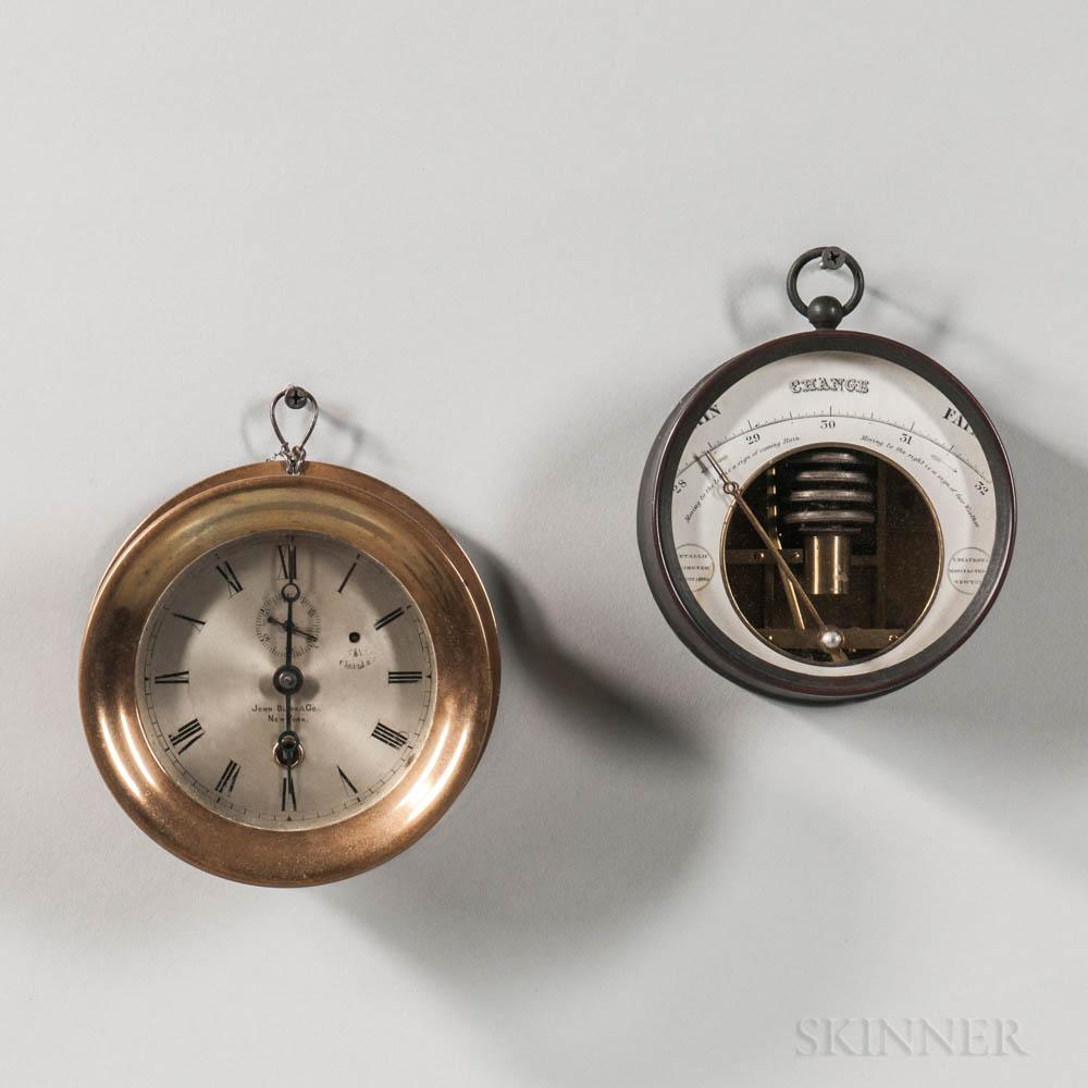 Ship's Clock and Barometer