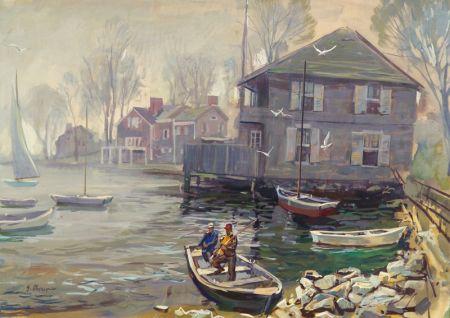George Cherepov (American, 1909-1987)    Greenwich Cove, Connecticut