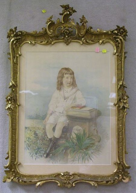Framed Mechanical Print of a Boy in a Sailor Suit