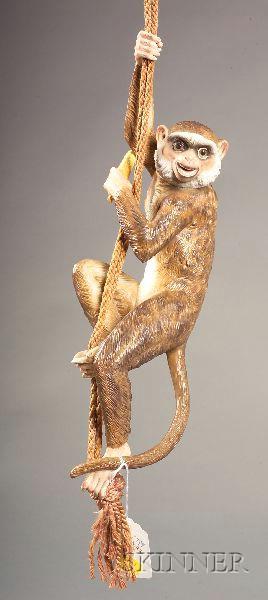Decorative Ceramic Monkey-form Drapery Accent