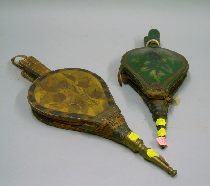 Two Hand-painted Bellows