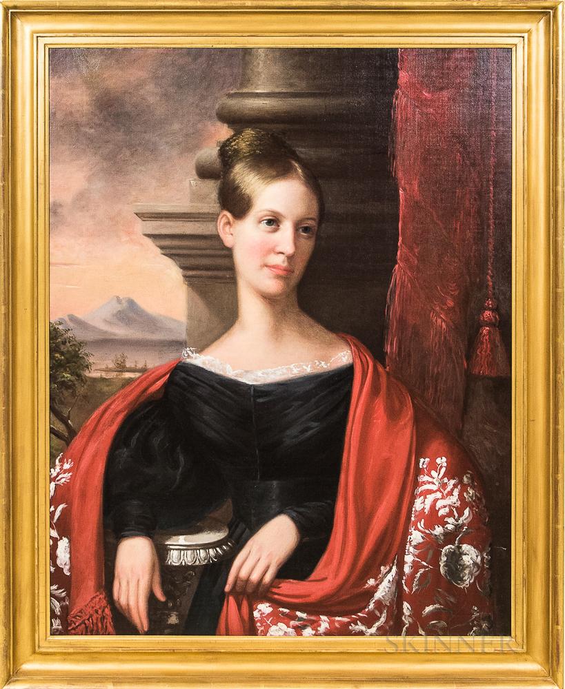 American School, 19th Century       Portrait of Sally Rhodes