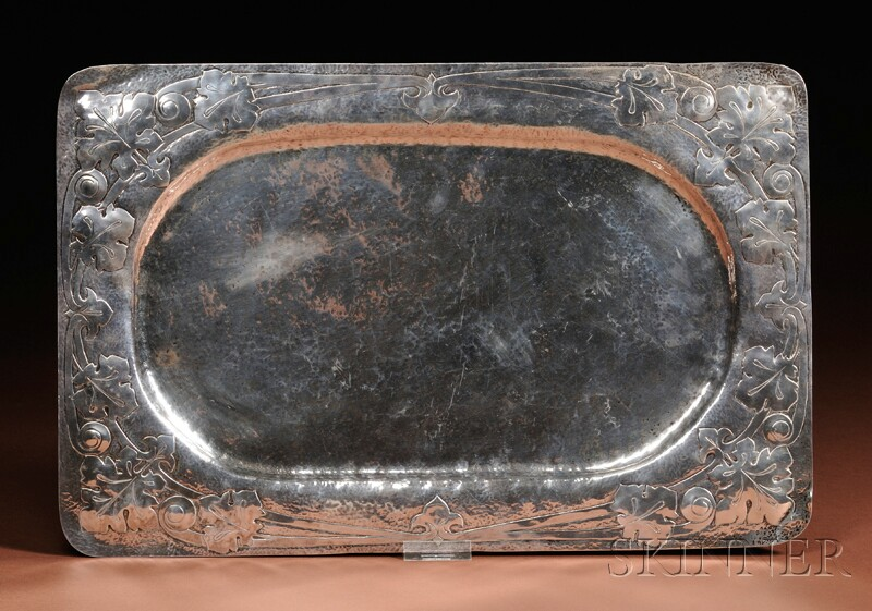 Arts & Crafts Movement Silver Tray