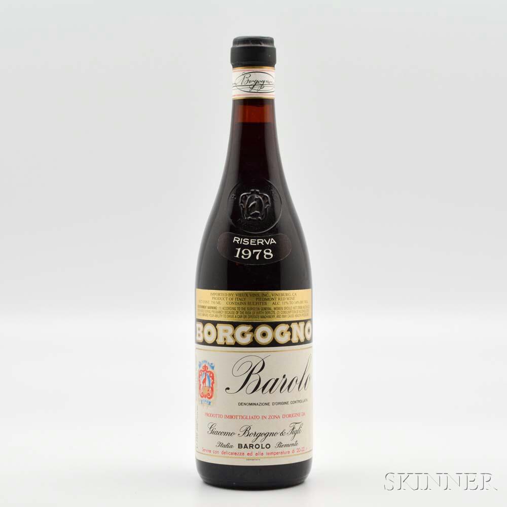Borgogno Barolo Riserva 1978, 1 bottle