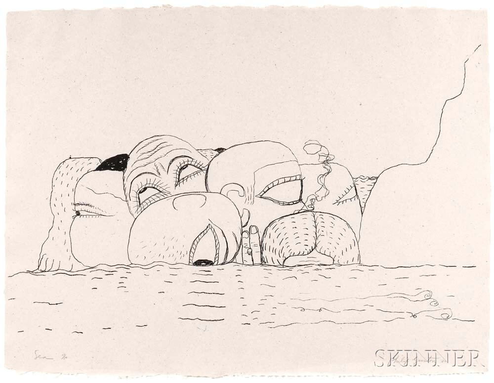 Philip Guston (American, 1913-1980)      Sea