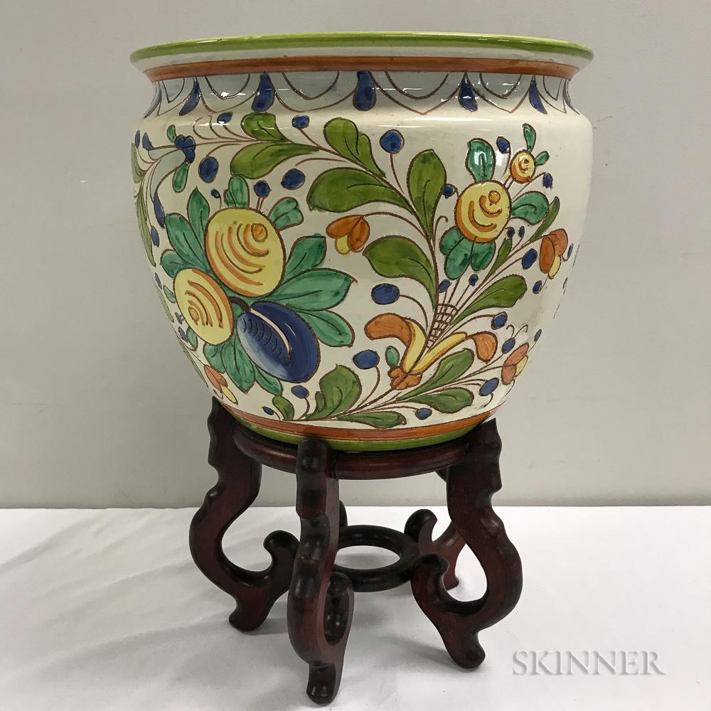 Six decorative jardinieres sale number 3046t lot number for Jardiniere decorative