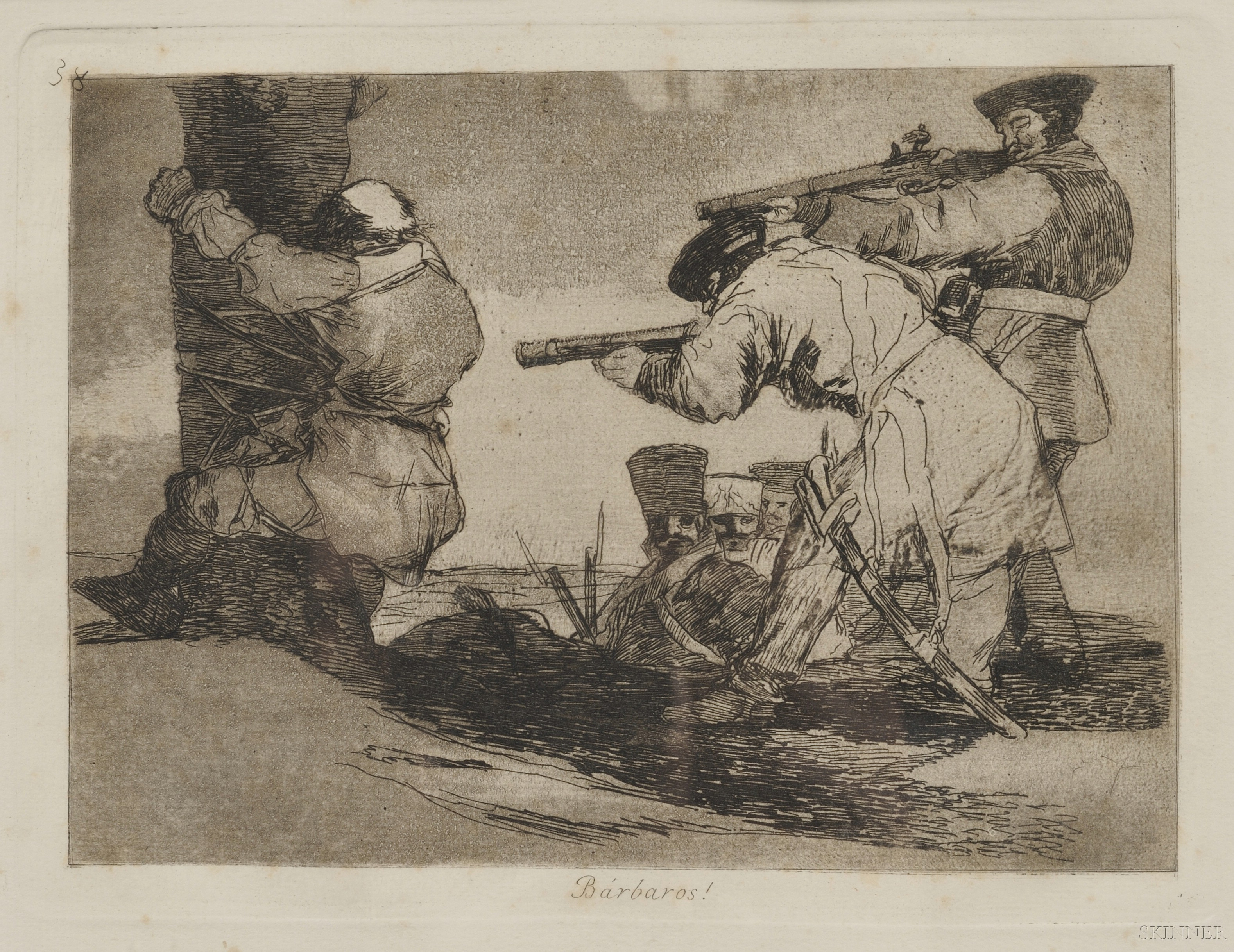 Francisco de Goya (Spanish, 1746-1828)      Bárbaros!