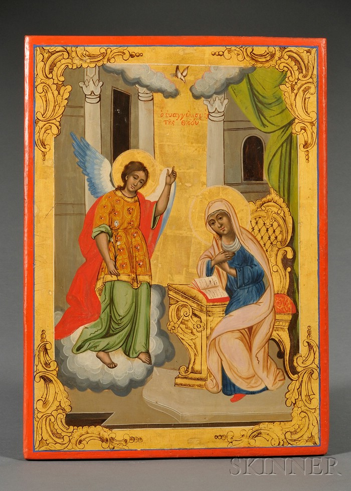 Greek Icon of the Annunciation