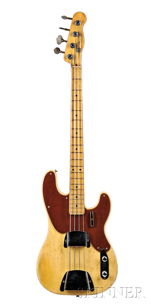 American Electric Bass Guitar, Fender Musical Instruments, Fullerton, 1951, Model   Precision Bass