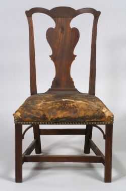 Transitional Mahogany Side Chair