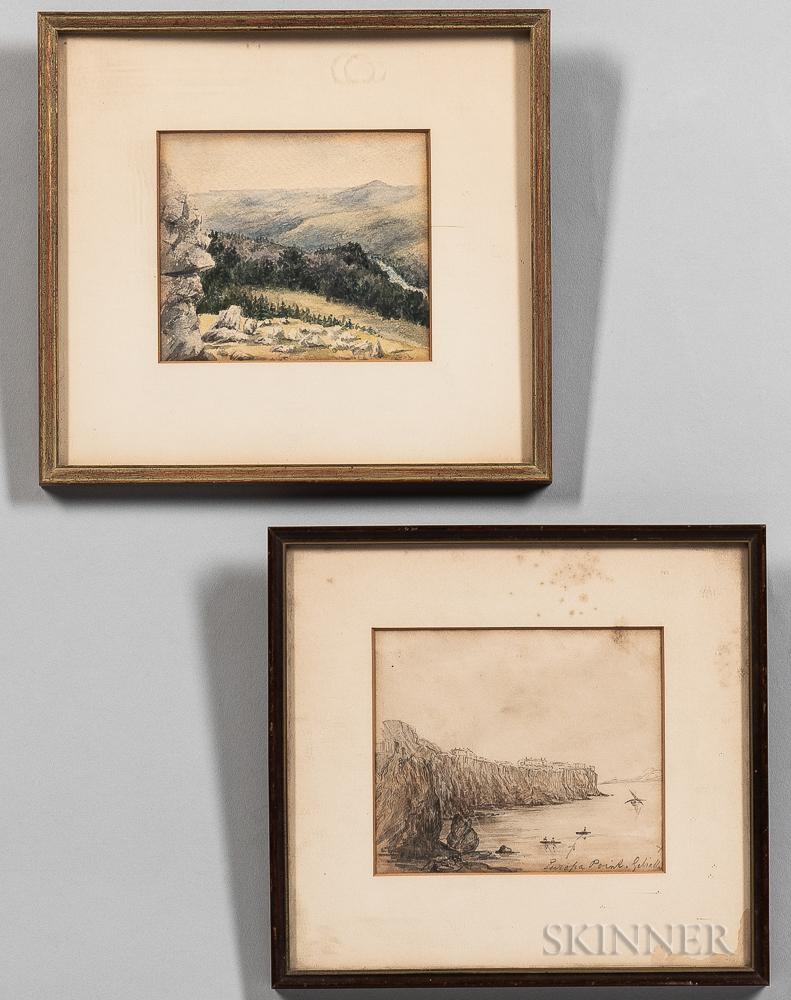 British School, 19th Century      Two Landscape Vistas: Europa Point, Gibraltar