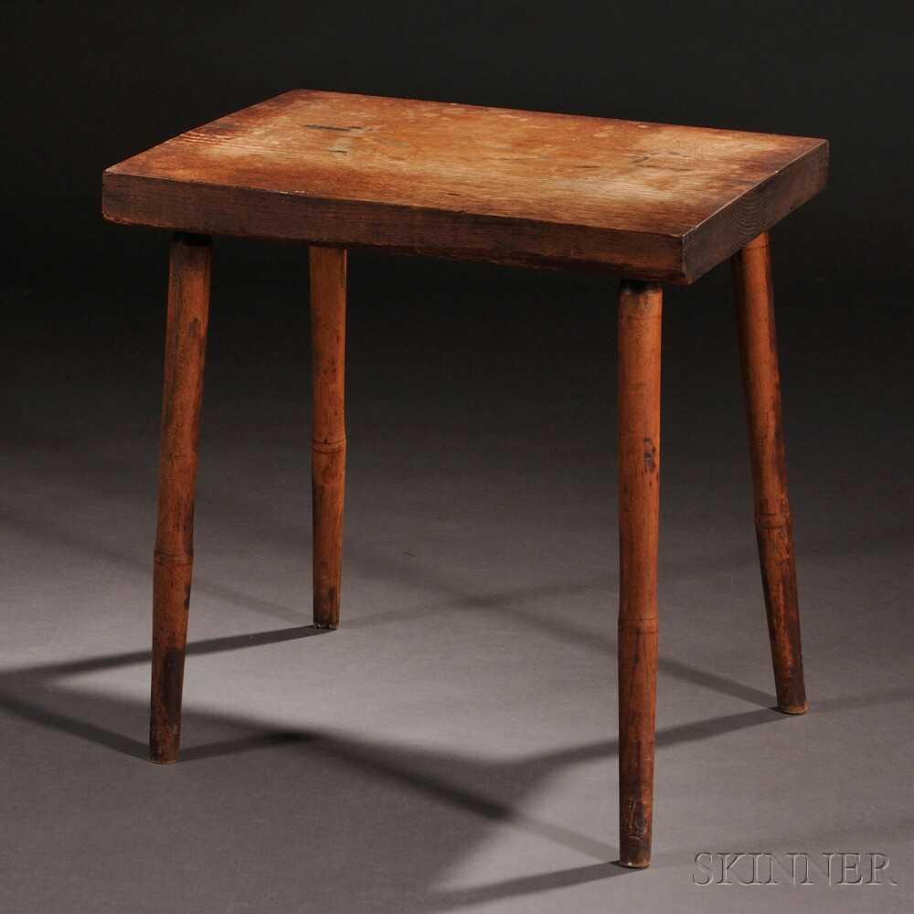 Shaker Oak and Maple Bench