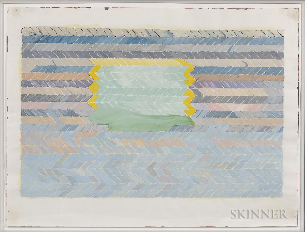 Katherine Porter (American, b. 1941)      Abstract with Herringbone Pattern