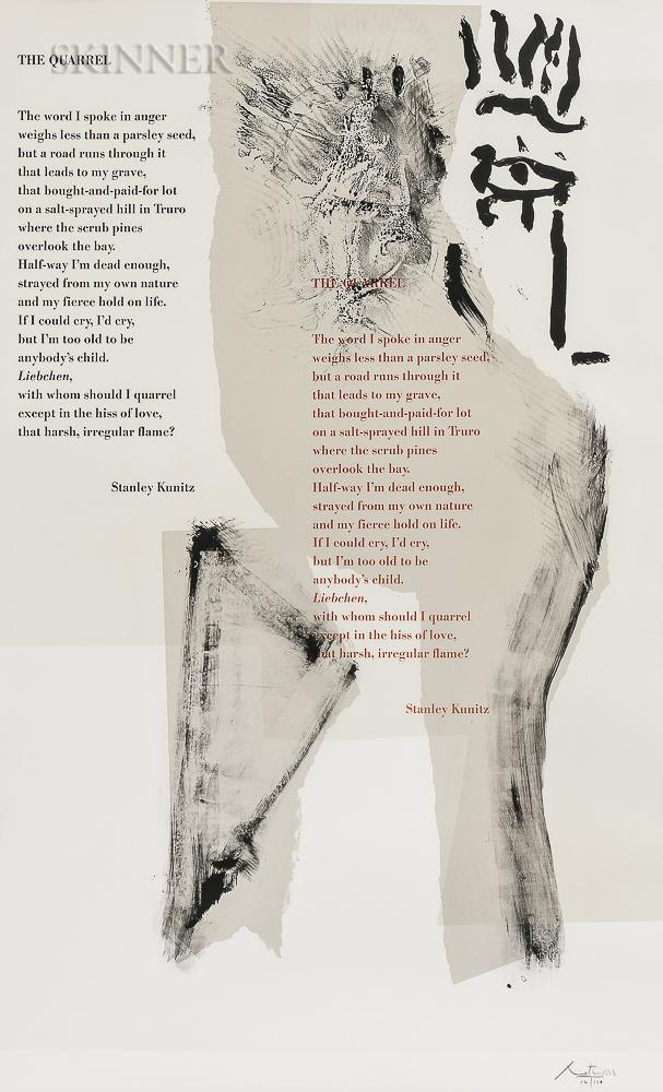 Robert Motherwell (American, 1915-1991)      The Quarrel