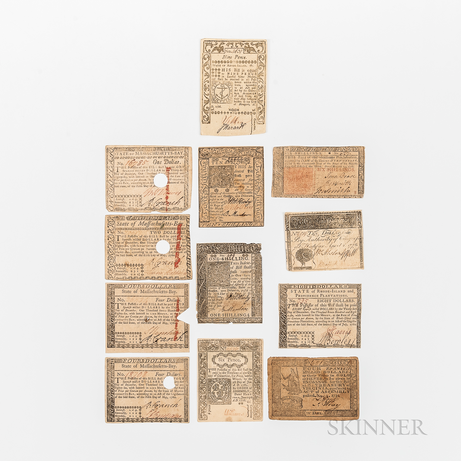 Twelve Colonial Notes