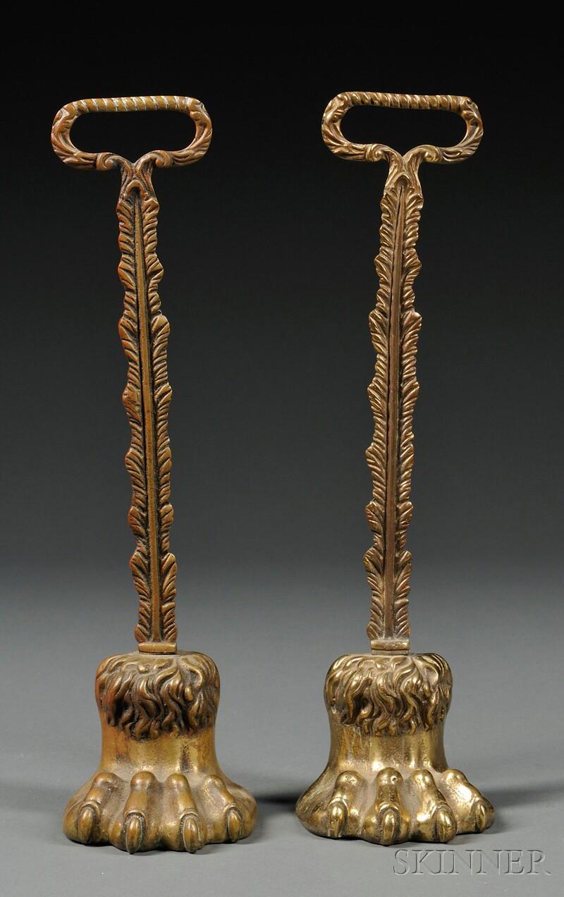 Pair of Georgian Brass Doorstops