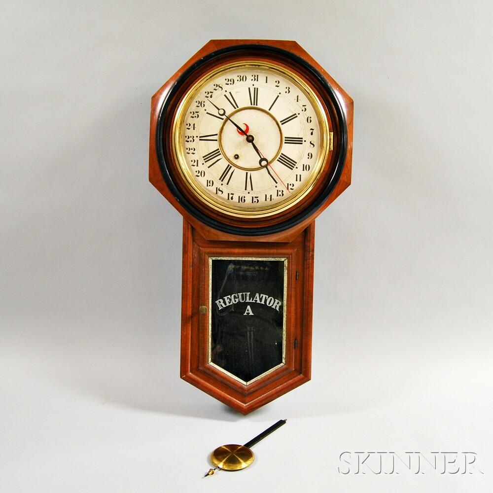 Ansonia Long Drop Octagonal Calendar Wall Clock Sale