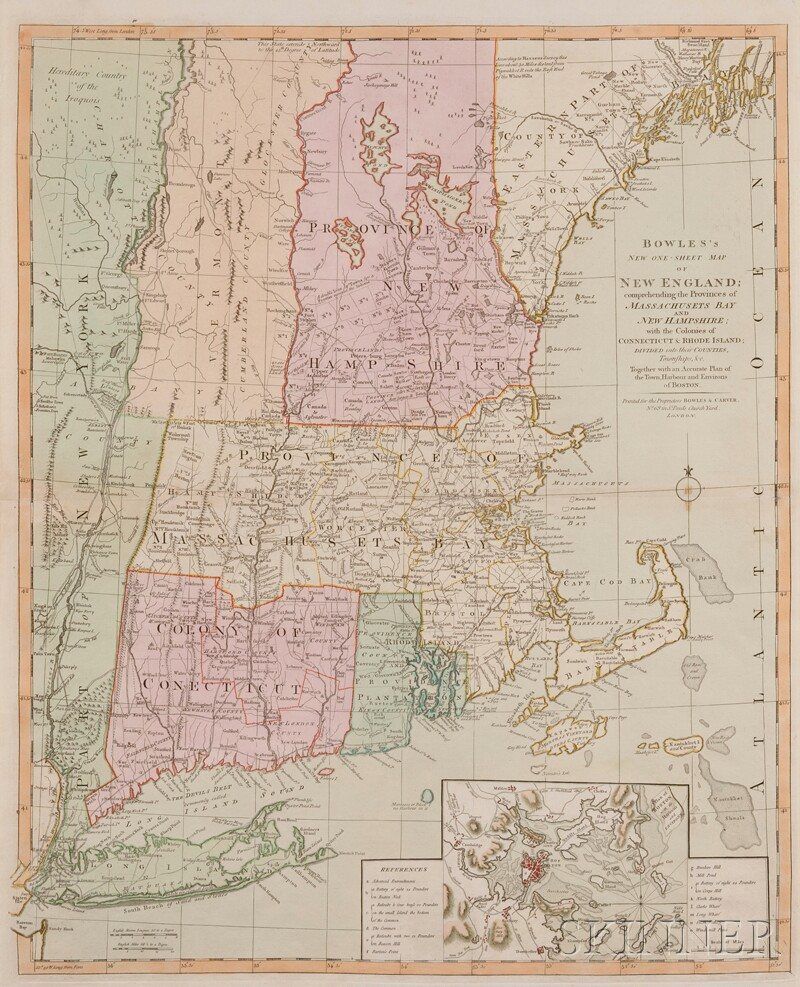 (Maps and Charts, North America), Bowles & Carver