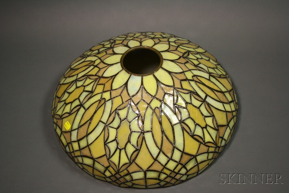 Mosaic Glass Table Lamp Attributed To Duffner U0026 Kimberly ...