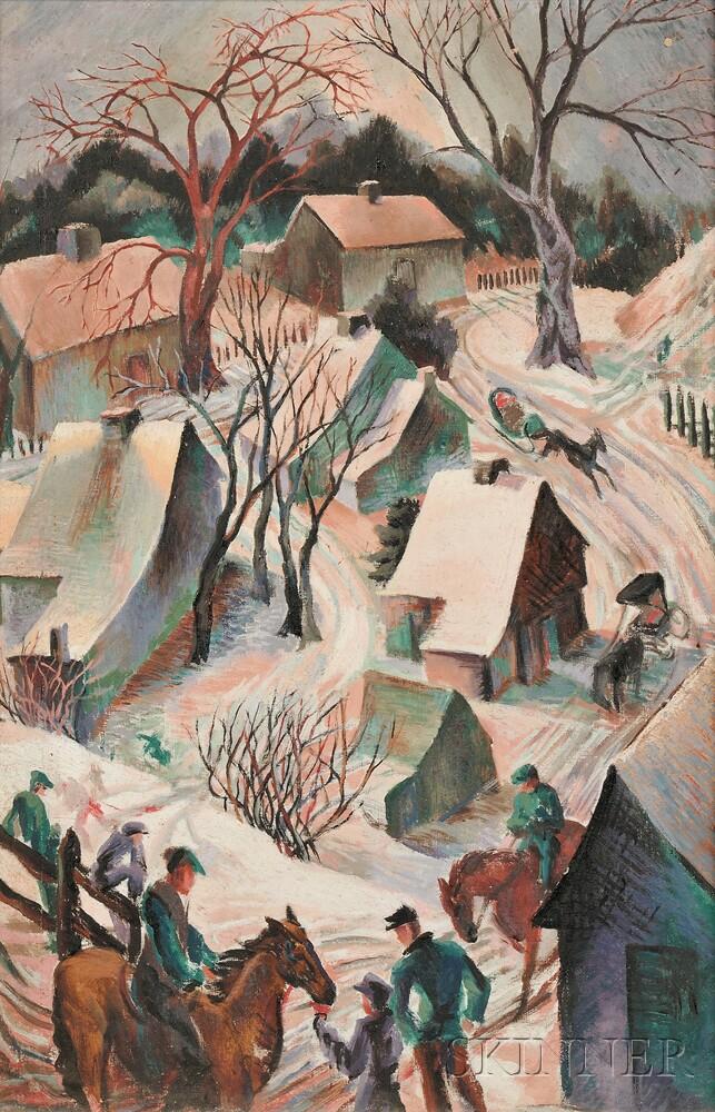 Gladys Kelley Fitsch (American, 1896-1971)      Little Village