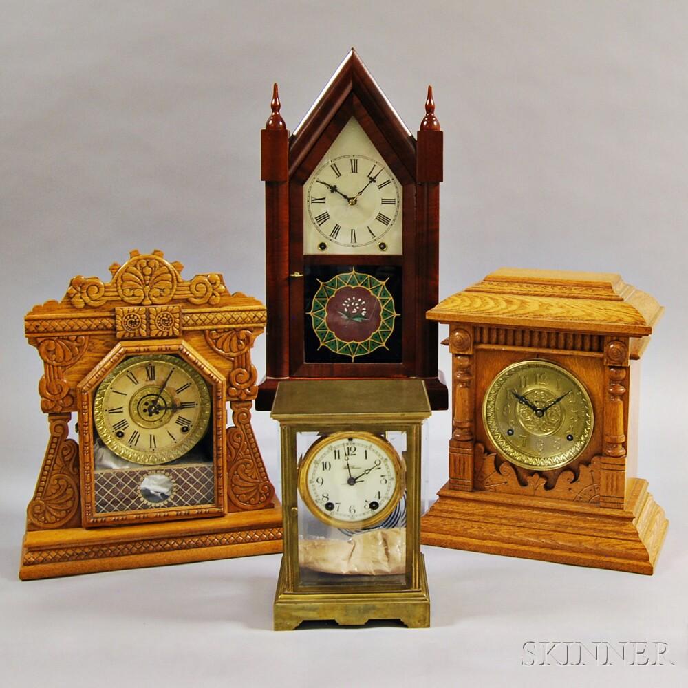 Seth Thomas and Three Other Shelf Clocks
