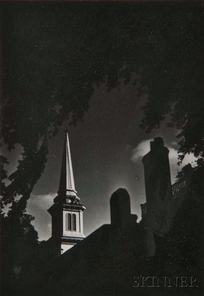 Dorothy Norman (American, 1905-1997)      Two Photographs: Church Steeple III, Falmouth, Cape Cod