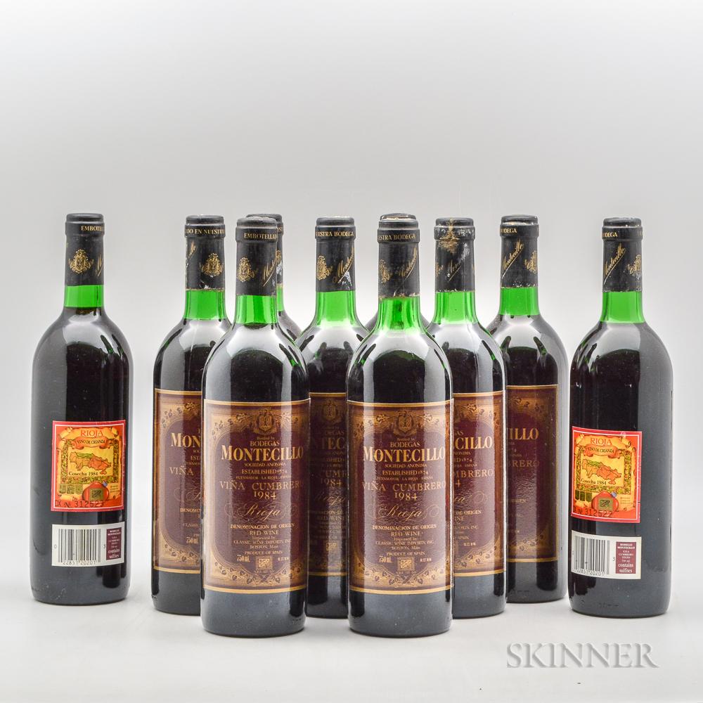 Bodegas Monticello Vina Cumbrero Rioja 1984, 10 bottles