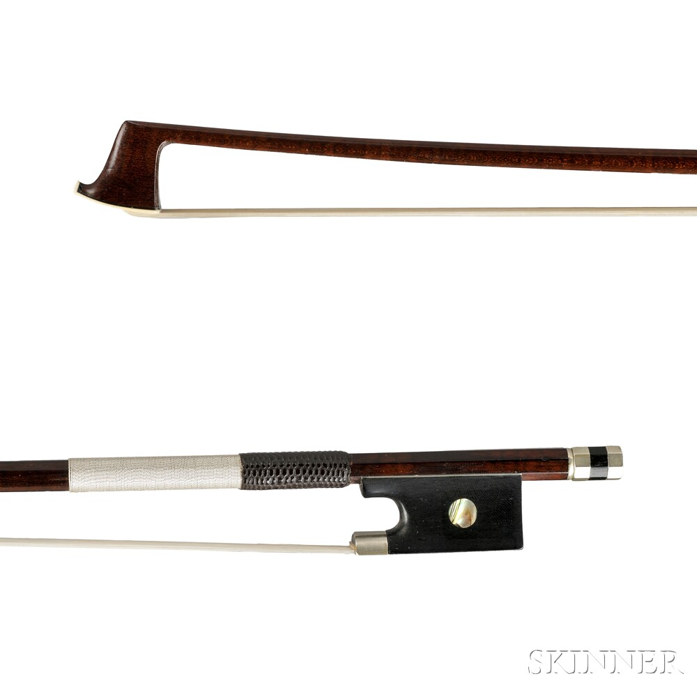 English Nickel Silver-mounted Violin Bow