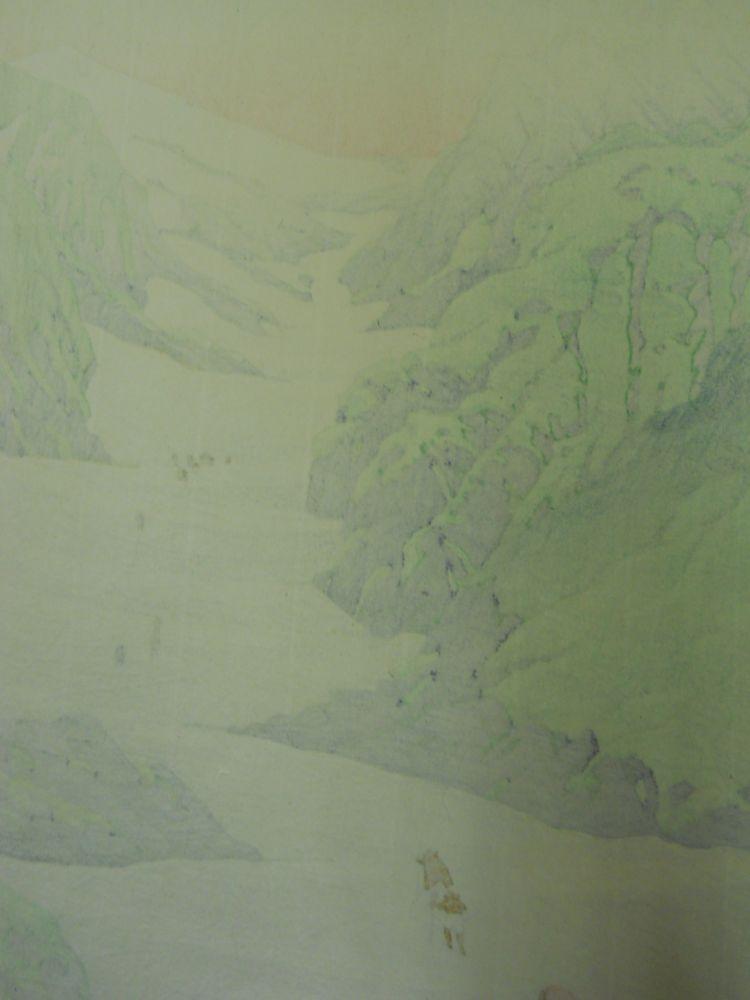 Kawase Hasui (1883-1957), Snow Valley of Mt. Hakuba