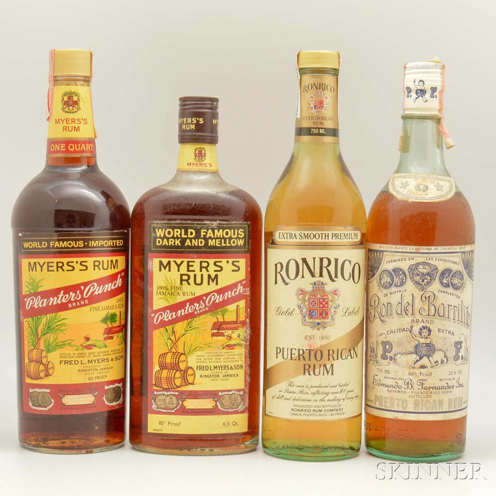 Mixed Rum, 1 quart bottle 1 4/5 quart bottle 2 750ml bottles