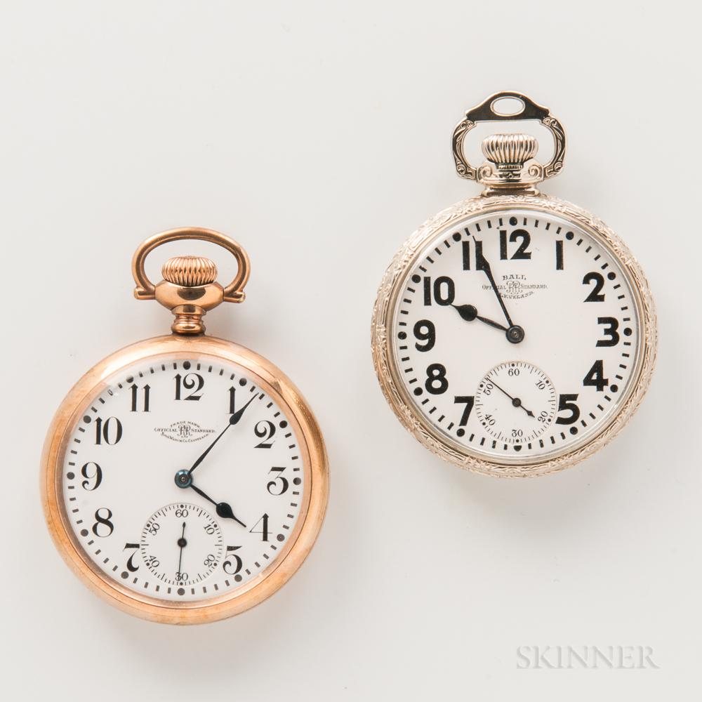 Two Ball Watch Co. Official Railroad Standard Open-face Watches