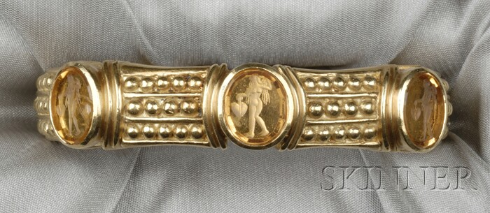 18kt Gold and Glass Intaglio Bracelet, Judith Ripka