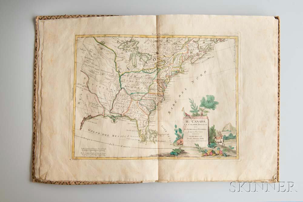 Zatta, Antonio (fl. 1757-1797) Le Colonie Unite dell'America Settentr[iona]le. Di Nuovo Projezione.