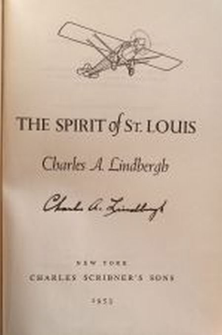 Lindbergh, Charles A., (1902-1974), Signed copy