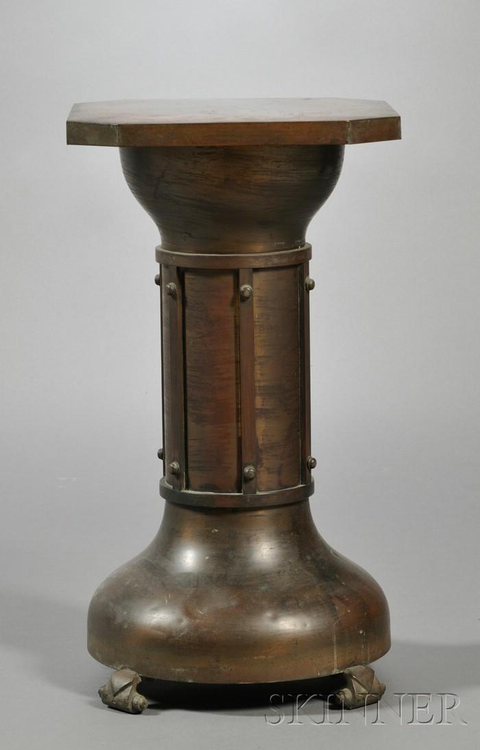 Arts & Crafts Metalwork Pedestal