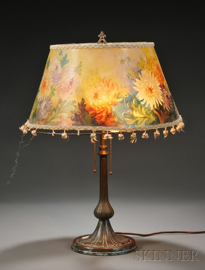 Handel Table Lamp with Painted Parchment Shade
