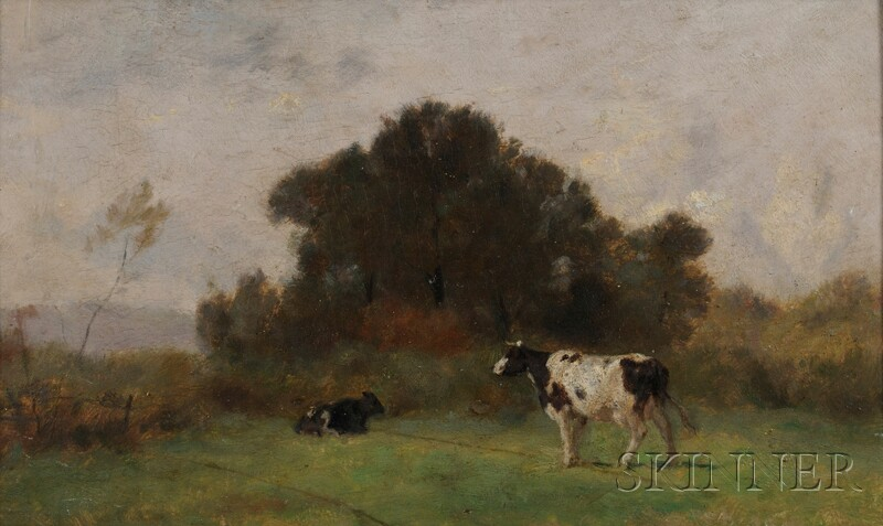 Jean Pezous (French, 1815-1885)      Cows in a Summer Field