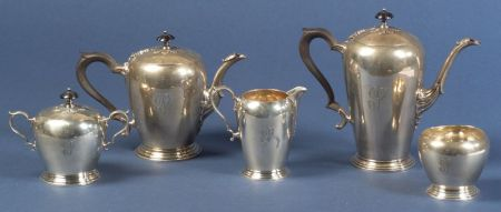 Five Piece Watson Sterling Tea and Coffee Service