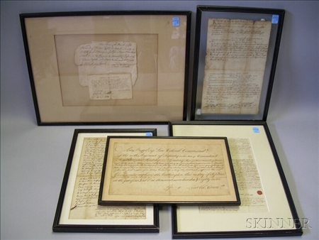 Five Early New England Paper Documents