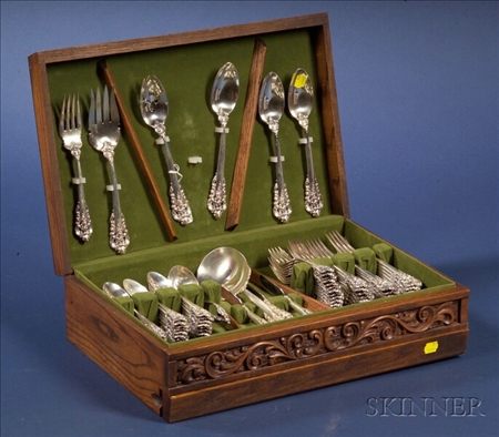 """Wallace Sterling """"Grand Baroque"""" Partial Flatware Service"""
