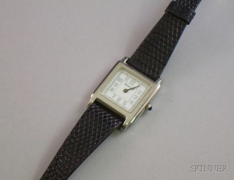 Ladys Tiffany & Co. Stainless Steel Wristwatch.