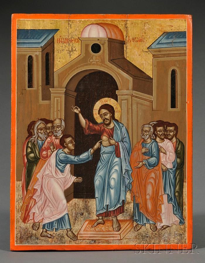 Greek Icon of St. Thomas the Doubter