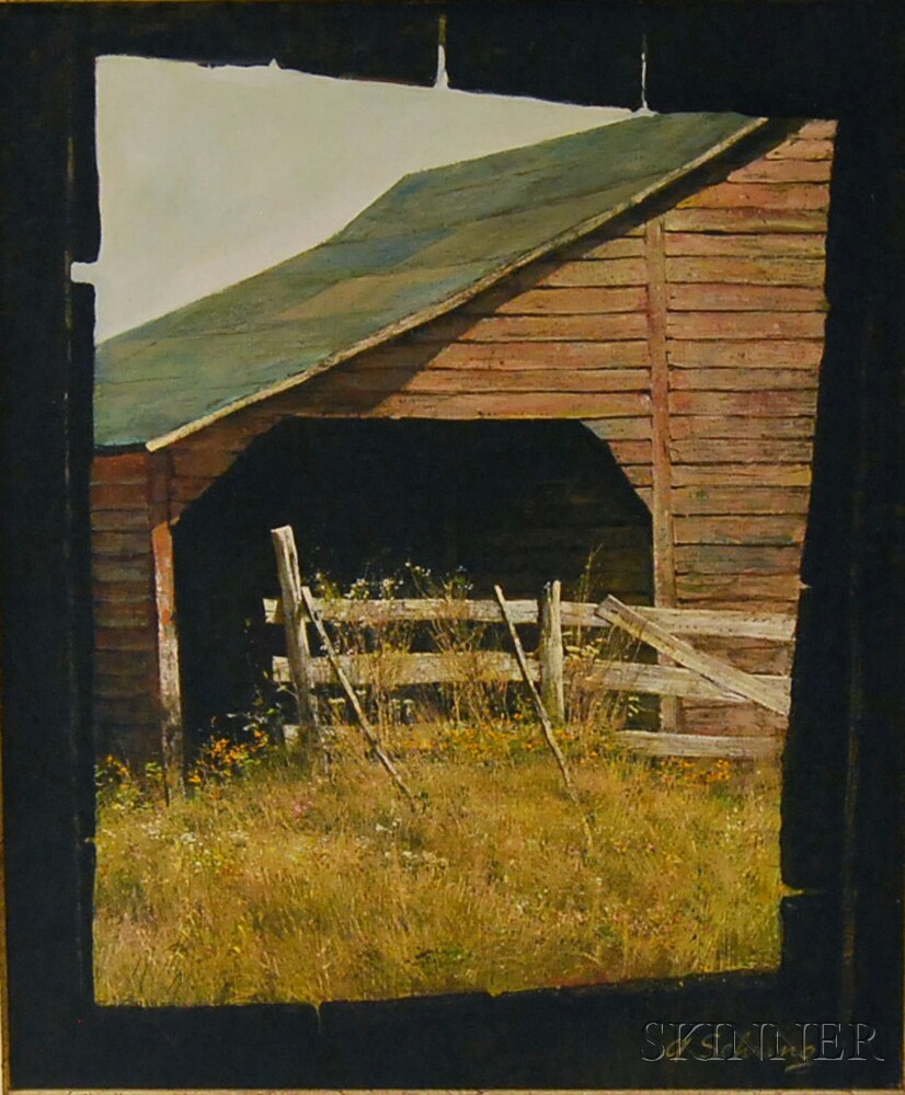 The Skinner Barn: Adolf Sehring (American, B. 1930) View Of A New England