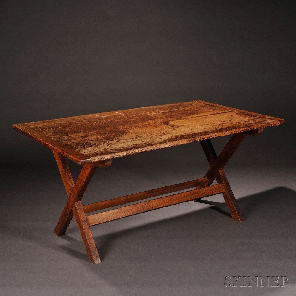 Shaker Pine and Chestnut Laundry Table