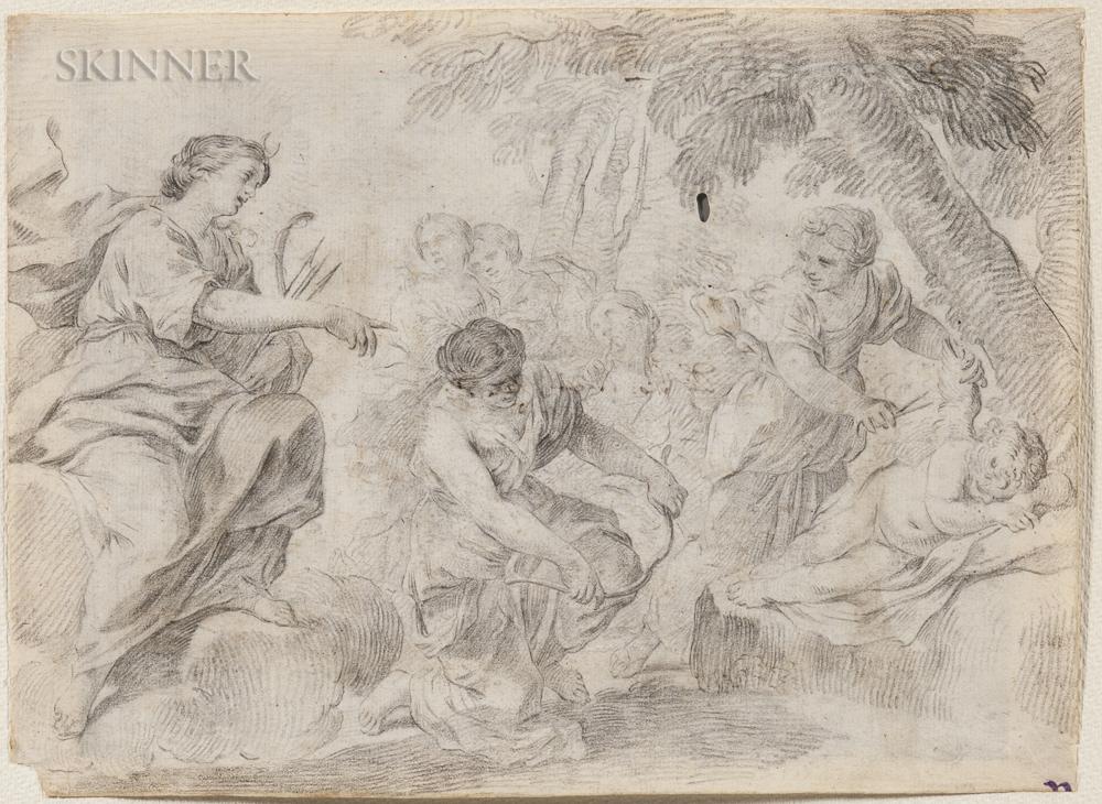 Italian School, 17th/18th Century      Diana Clipping Cupid's Wings