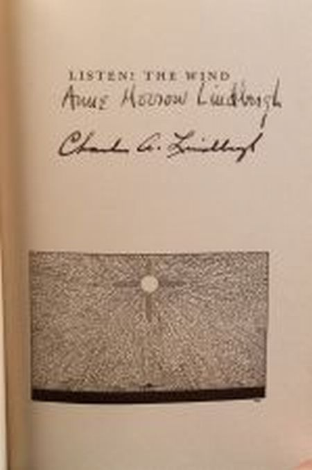 Lindbergh, Anne Morrow and Charles, Signed copy
