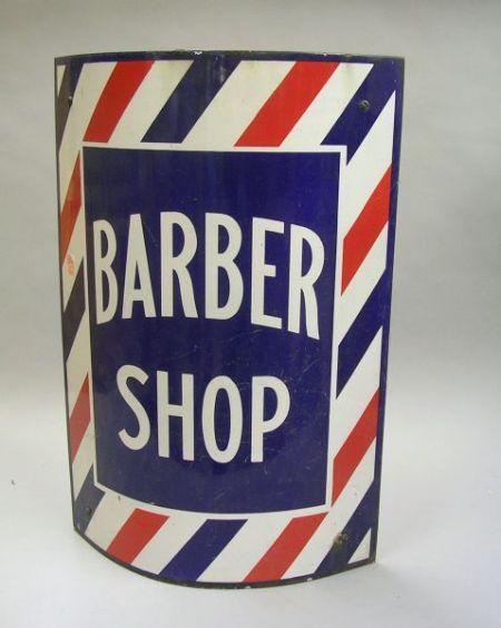 Enamel Porcelain Barber Shop Trade Pole Sign